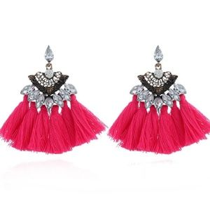 long Tassel earrings Crystals